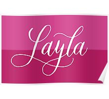 Layla - Modern Calligraphy Name Design Poster