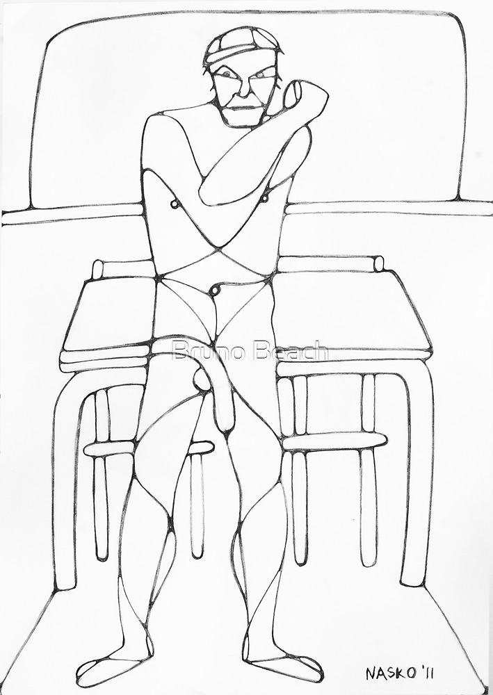 Abstract Croquis of a Nude Male 15 by Nasko .