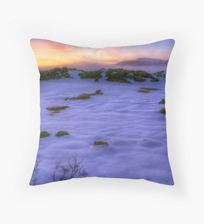 A Break in the Clouds - Vík í Mýrdal, Iceland Throw Pillow