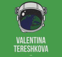 VALENTINA TERESHKOVA (Light Lettering) - Clothing & Other Products One Piece - Short Sleeve