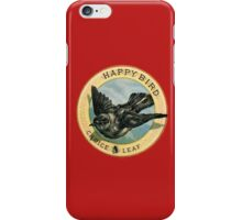 Vintage Retro Flying Happy Bird Advertisement iPhone Case/Skin