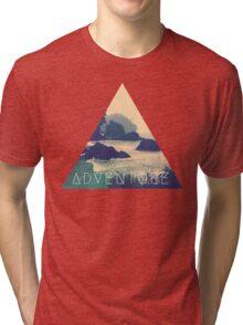 Wanderlust Beach Boho Typography Adventure Print Tri-blend T-Shirt
