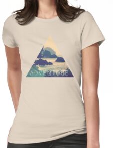 Wanderlust Beach Boho Typography Adventure Print Womens Fitted T-Shirt