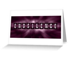End the Silence - Purple Greeting Card