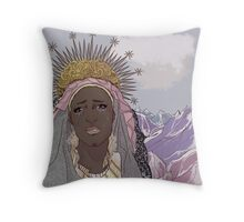 Crying Mary Throw Pillow