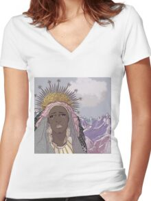 Crying Mary Women's Fitted V-Neck T-Shirt
