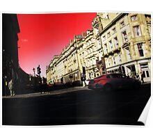Grey Street Red Sky Poster