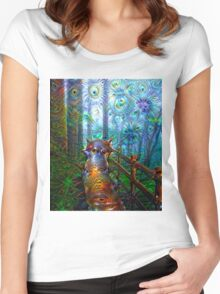 Lady Marana in the Garden Women's Fitted Scoop T-Shirt