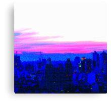 Neon Pink Skyline Canvas Print