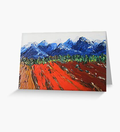 Snowcovered mountains Greeting Card