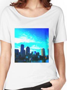 Blue Cloud Skyline Women's Relaxed Fit T-Shirt