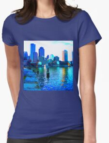 River City Skyline Womens Fitted T-Shirt
