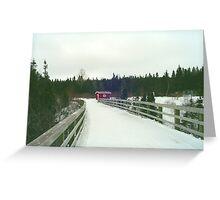 Warm-Up Cabin Greeting Card