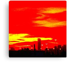 Red Skyline Canvas Print