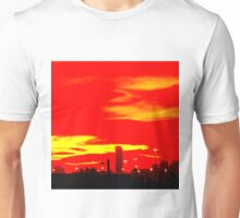Red Skyline Unisex T-Shirt