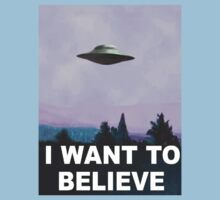 I want to believe (purple) Kids Clothes