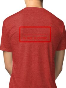 Fill in the blank is not a crime Tri-blend T-Shirt