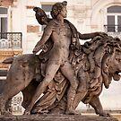 Lion Statue - La Bourse Brussels by evilcat