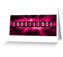 End the Silence - Pink Greeting Card