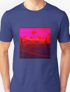 Pink Retro City Unisex T-Shirt