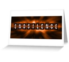 End the Silence - Orange Greeting Card