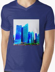 Bleach City Sky Mens V-Neck T-Shirt