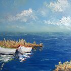 Fishing Boats by Claudia Hansen
