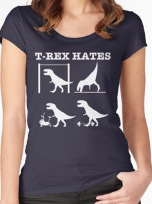 T-Rex Hates........ Women's Fitted Scoop T-Shirt