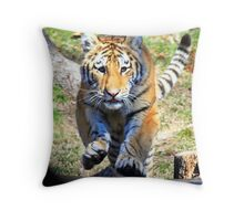 Charging Tiger Throw Pillow