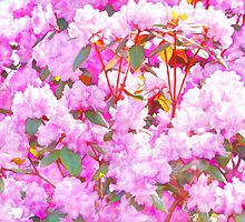 Watercolor Azaleas by daphsam