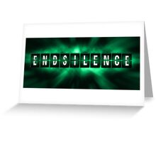 End the Silence - Green Greeting Card