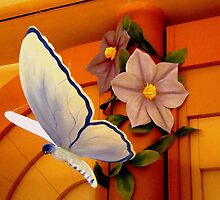 BUTTERFLY of PAPER MACHE by ctheworld