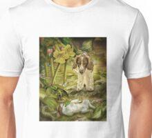 Welsh Springer spaniel and puppy splish-splash! Unisex T-Shirt