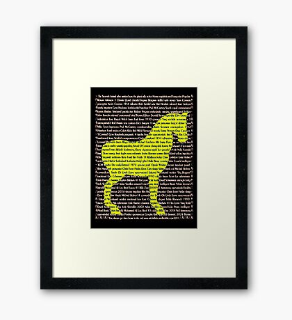 """The Year Of The Horse"" Framed Print"
