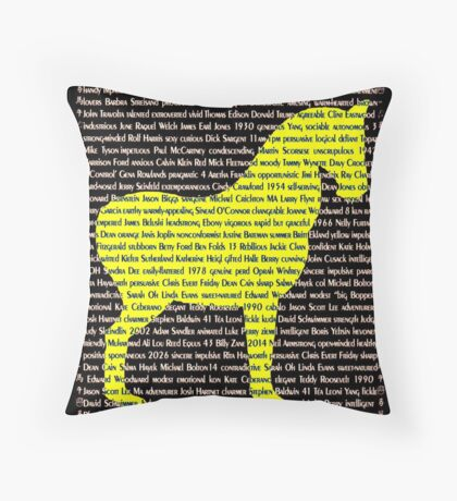 """The Year Of The Horse"" Throw Pillow"