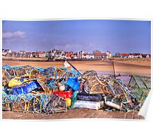 Fishing Debris on The Pier Poster
