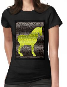 """""""The Year Of The Horse"""" Clothing Womens Fitted T-Shirt"""
