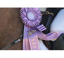 Purple Ribbon Photographic Print