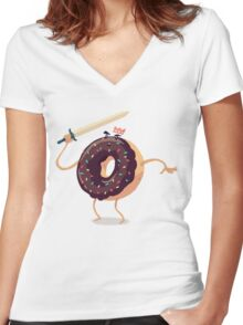 Baked To Rule Women's Fitted V-Neck T-Shirt