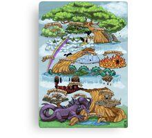 YGGDRASILL - THE NINE WORLDS Canvas Print