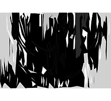 Abstract Degree in Black & White Photographic Print