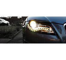 Audi A4 Daytime Running Lights Photographic Print