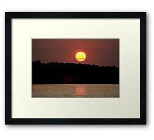 Moon  (low light) Framed Print