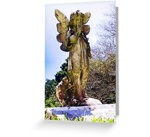 Statue of an angel in the churchyard Greeting Card