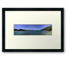 Panorama from the beach at Freguesia de Santana Framed Print
