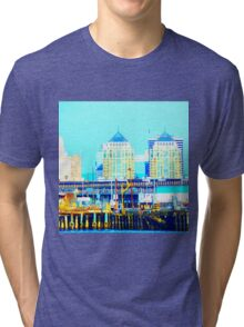 Blue Rust Tri-blend T-Shirt