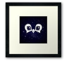 Dark Blue Owl Framed Print