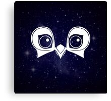 Dark Blue Owl Canvas Print