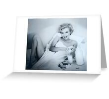 BREAKFAST WITH MARILYN Greeting Card