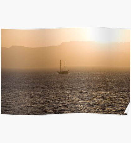 Red Sea Sunset Poster